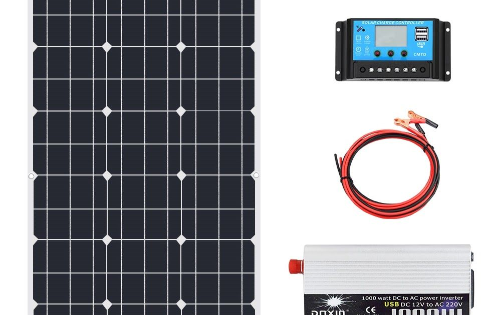Buy Now On Aliexpress View On Aliexpress 70w 18v Solar Panel 1000w Inverter 220v Or 110v Pwm 10a Charge Controller Batt In 2020 Solar Kit Solar Panels Solar Inverter