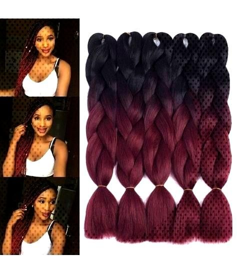 Great Pics Xpression Braiding Hair Jumbo Box Braids Ombre Braiding Hair Afro Box Braids Cro...  Pop