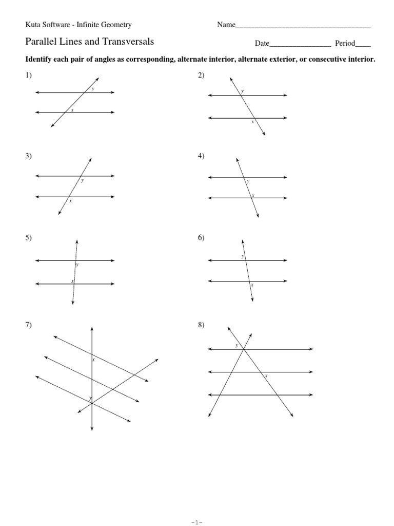 Lines And Angles Worksheet 3 Parallel Lines And Transversals Pdf Angles Worksheet Measuring Angles Worksheet Worksheets