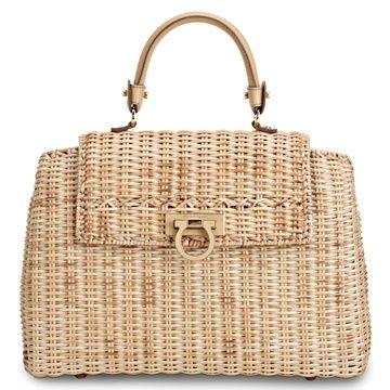 7fd97aecc9d3 Salvatore Ferragamo 2013 Spring Summer Straw Handbag Jane Birkin Style