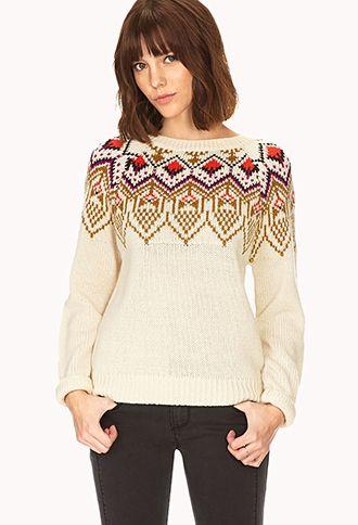 Fair Isle Sweater | FOREVER21 - 2000073770 | shopaholic dreams ...