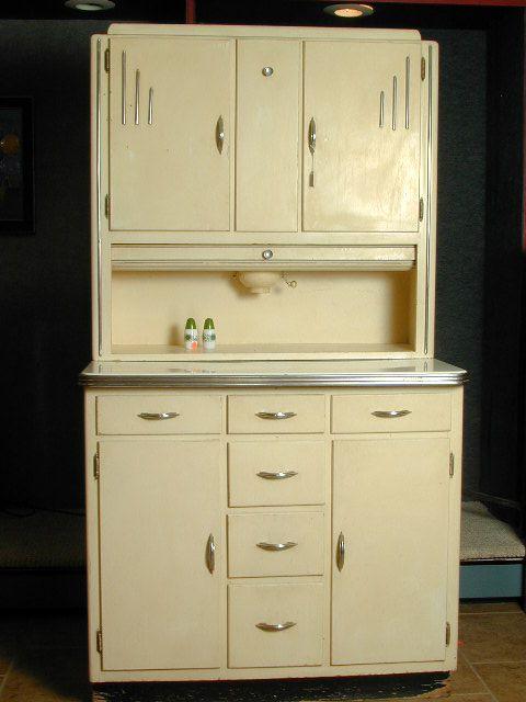 A Wonderful 1930s Cream Coloured Art Deco Hoosier Cabinet Vintage 1930s Kitchen Furniture Art Deco Kitchen Vintage Kitchen Cabinets Art Deco Furniture