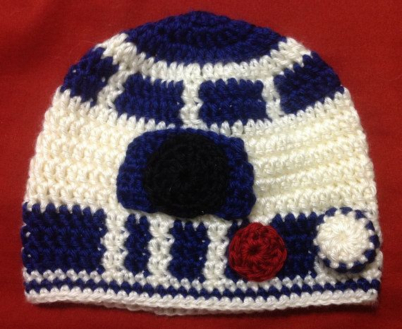 R2D2 Beanie, star wars beanie, star wars hat, baby R2D2 crochet ...