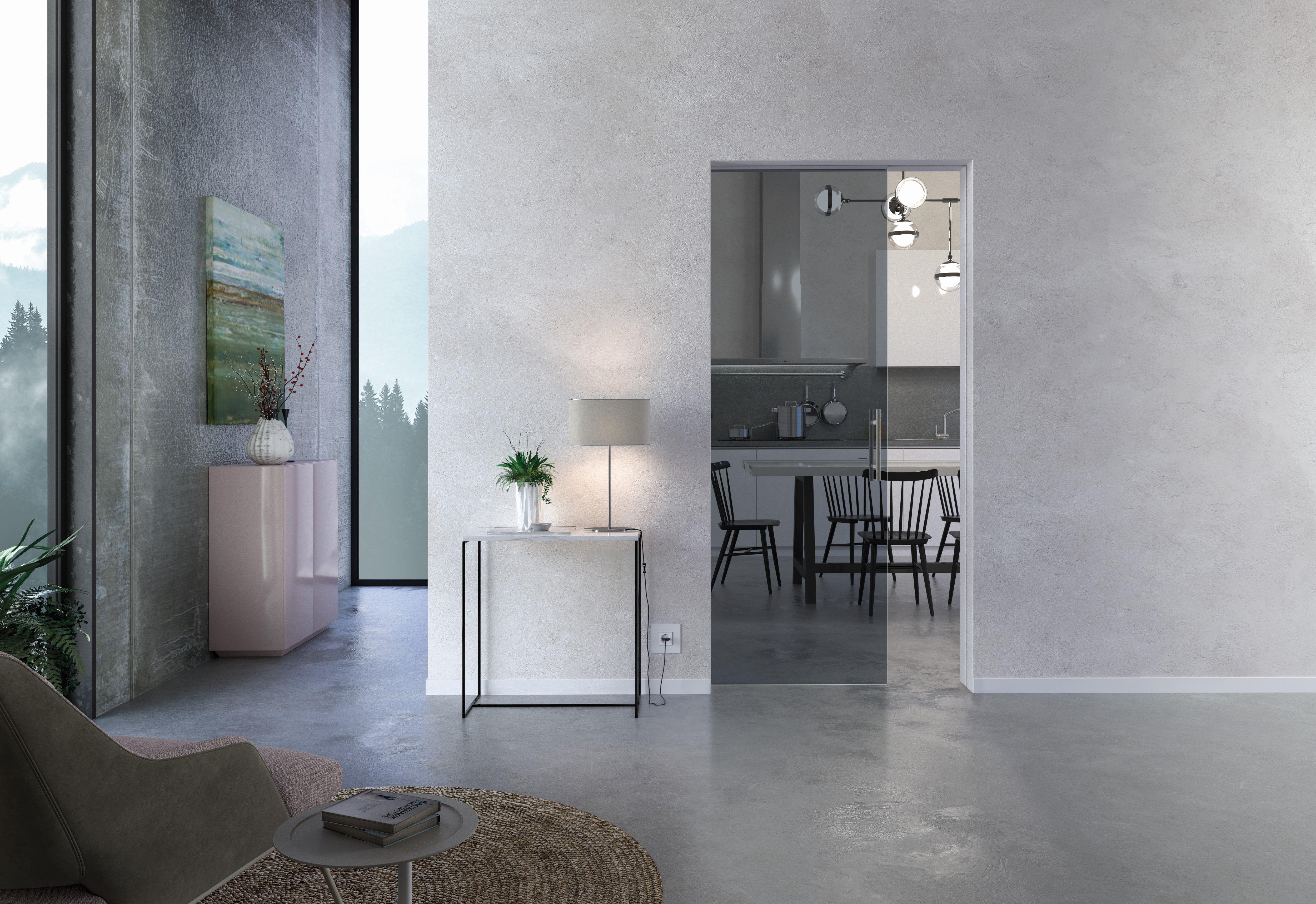 Glass Eclisse Pocket Door Sliding Door Save Space & Add