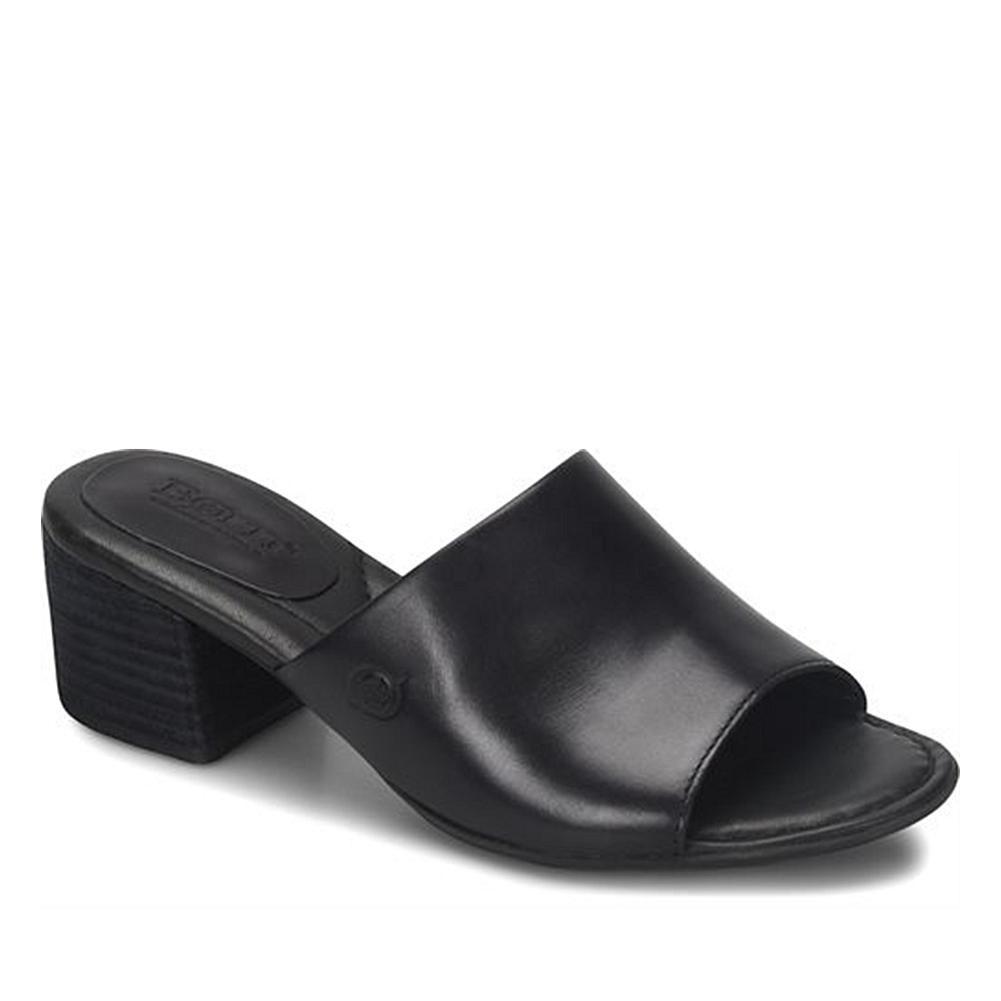 2b243bc7e2a9 Born® Opal Leather Block Heel Slide Sandal - 8757026