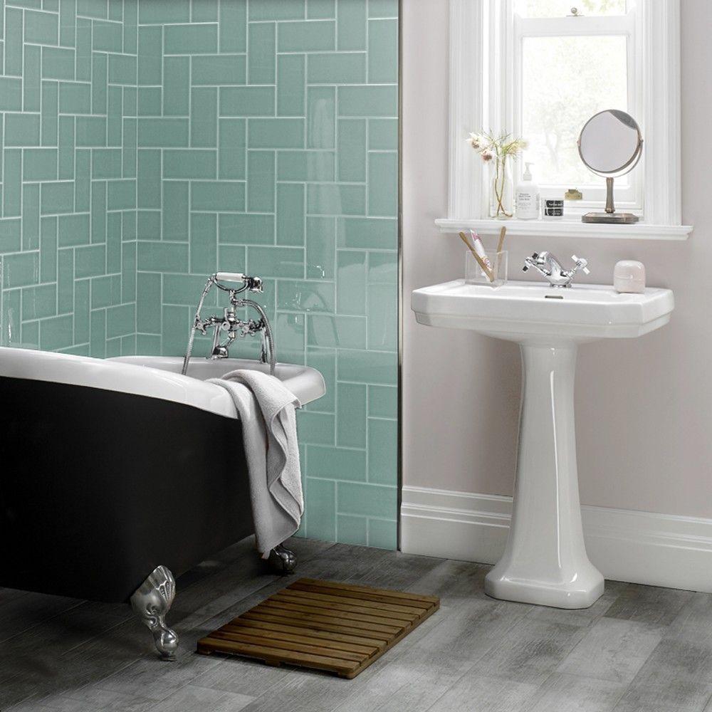 Pistachio metro tile | Bathrooms | Pinterest | Pistachios, Metro ...