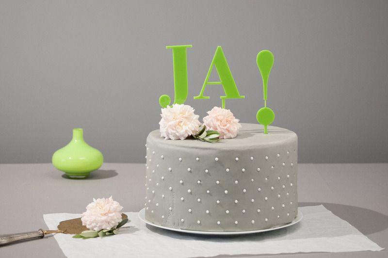 Weiteres Cake Topper Hochzeitstorte Ja Grun Ein Designerstuck