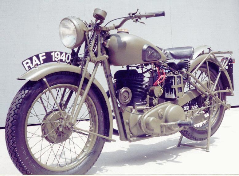 BritishAllied Motorcycles BSA M 20 Motorsykkel, Bsa  Motorcycle, Bsa