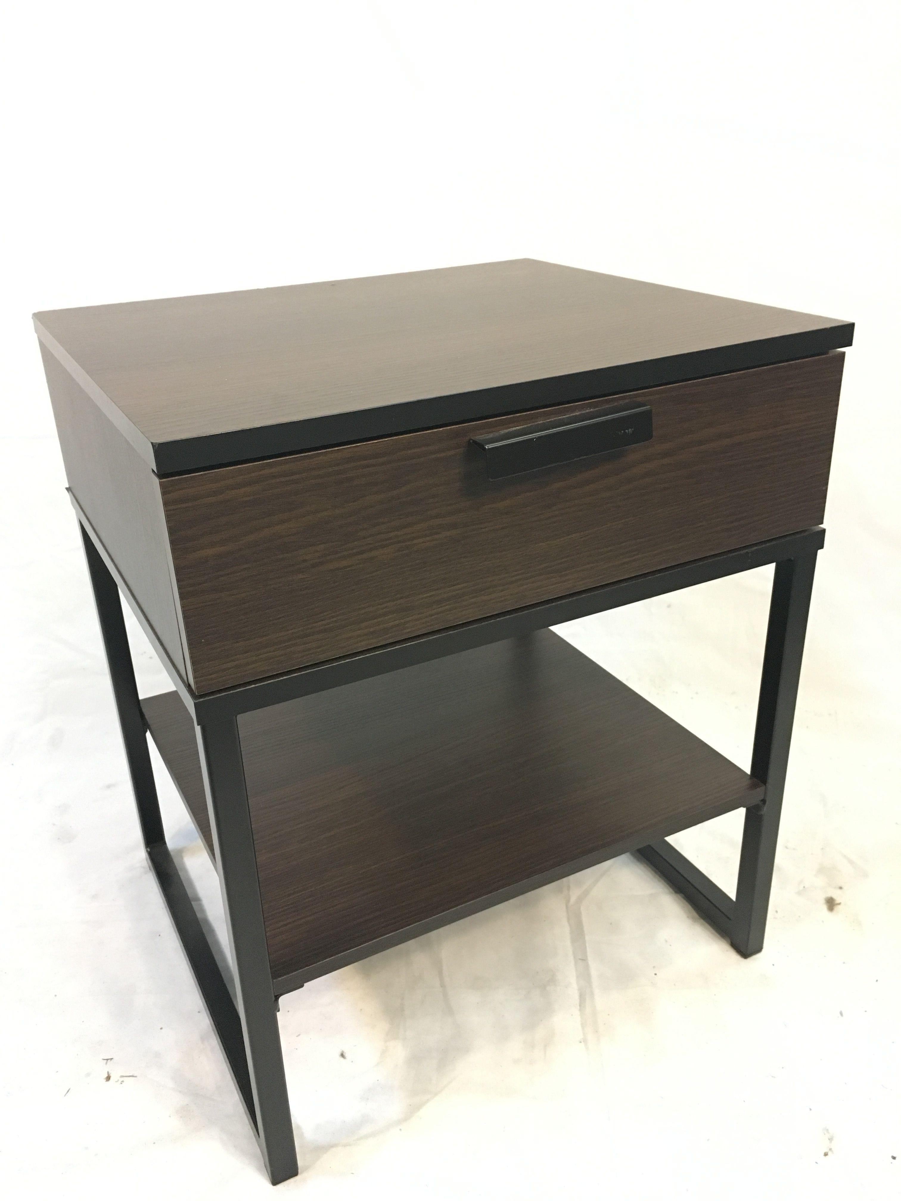 Small Dark Wood Nightstand 18x16x22 Wood Nightstand Nightstand