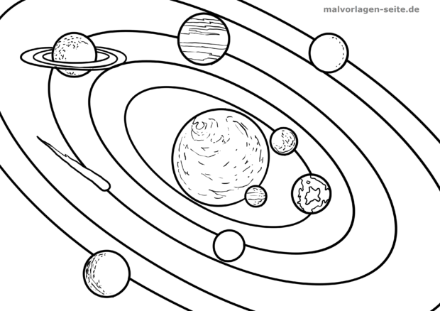 Malvorlage Planeten Umlaufbahn Malvorlagen Ausmalbilder