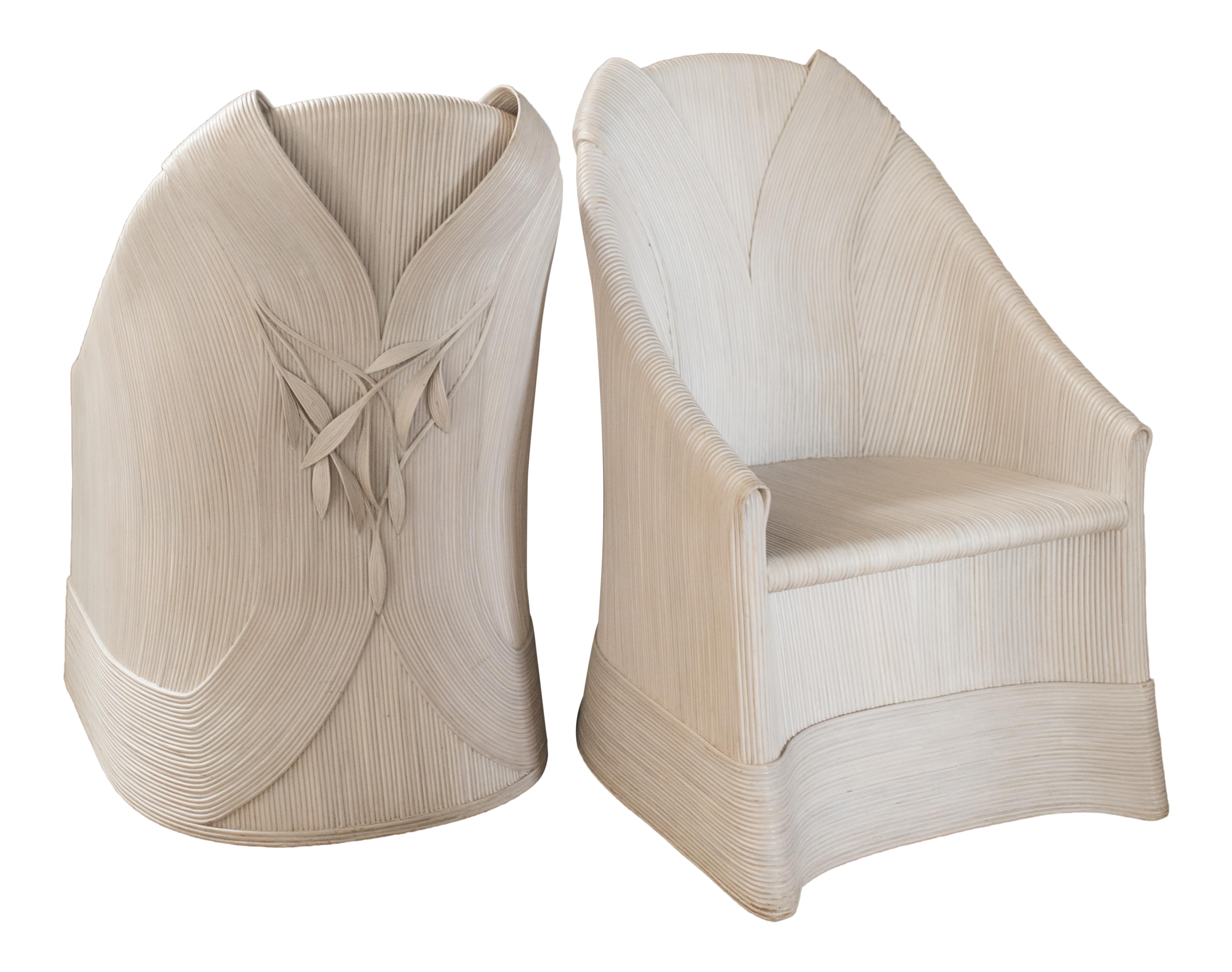 Rattan Scultura Armchairs Or Dining Chairs By Betty Cobonpue A Pair On Chairish Com Chair Dining Chairs Bean Bag Chair