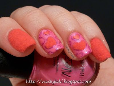 Valentines Day with stamping and flocking powder!