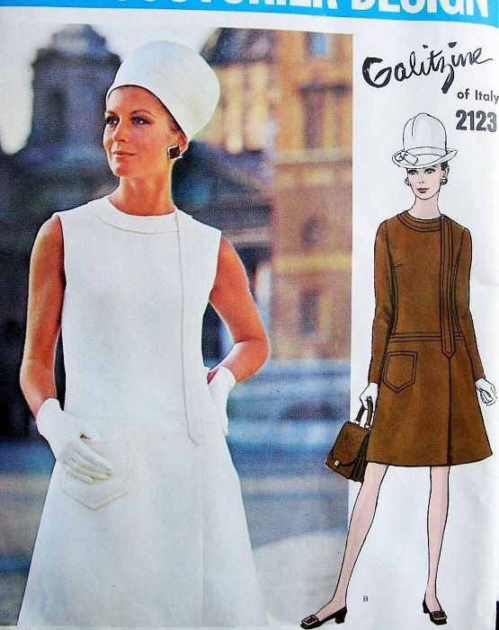 60s Mod Drop Waist Dress Vintage Cassie Dress