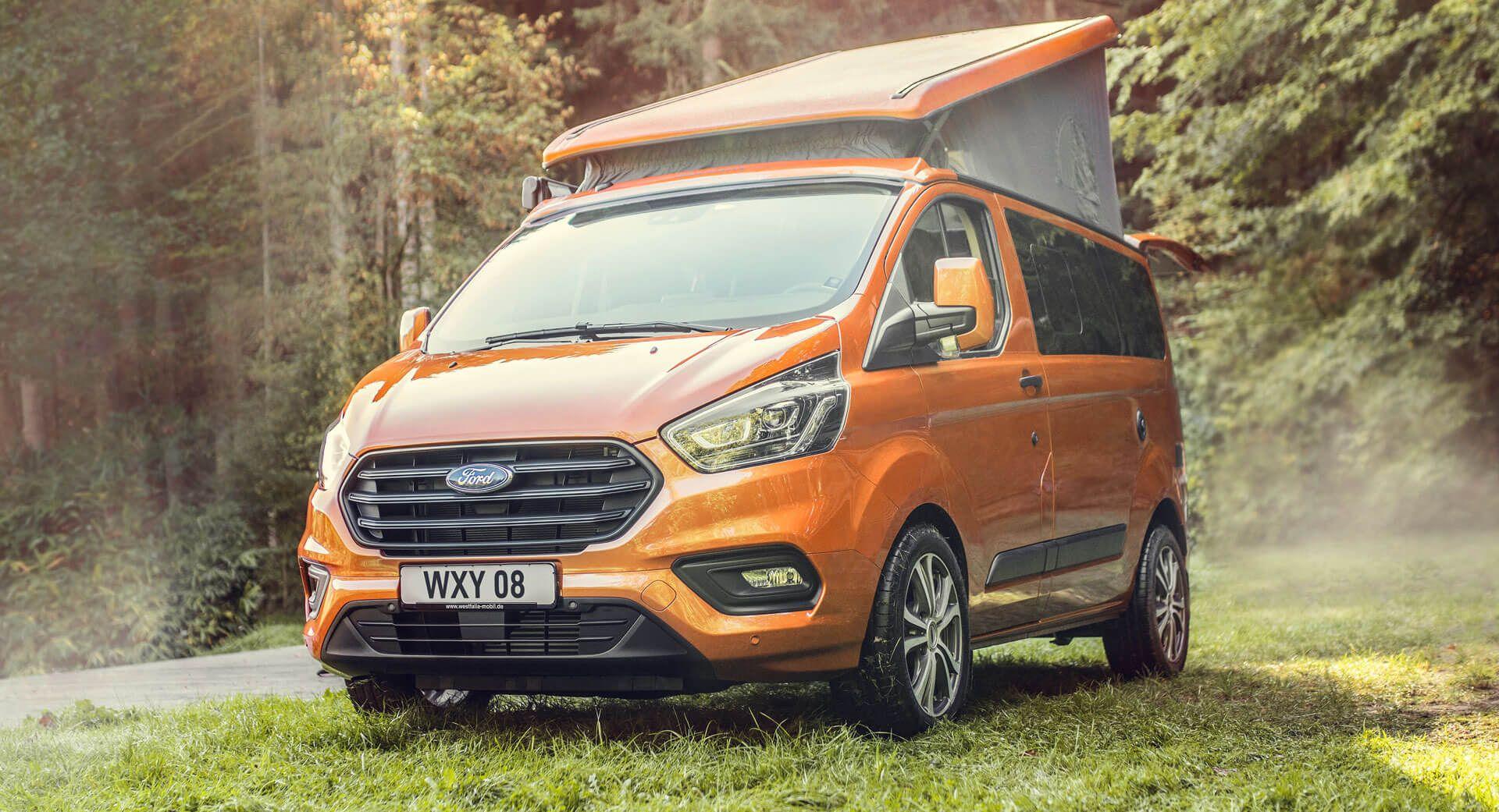 2020 Ford Transit Custom Nugget Mit Neuem Motor Und Integriertem Wlan Modem Transit Custom Ford Transit Camper Van