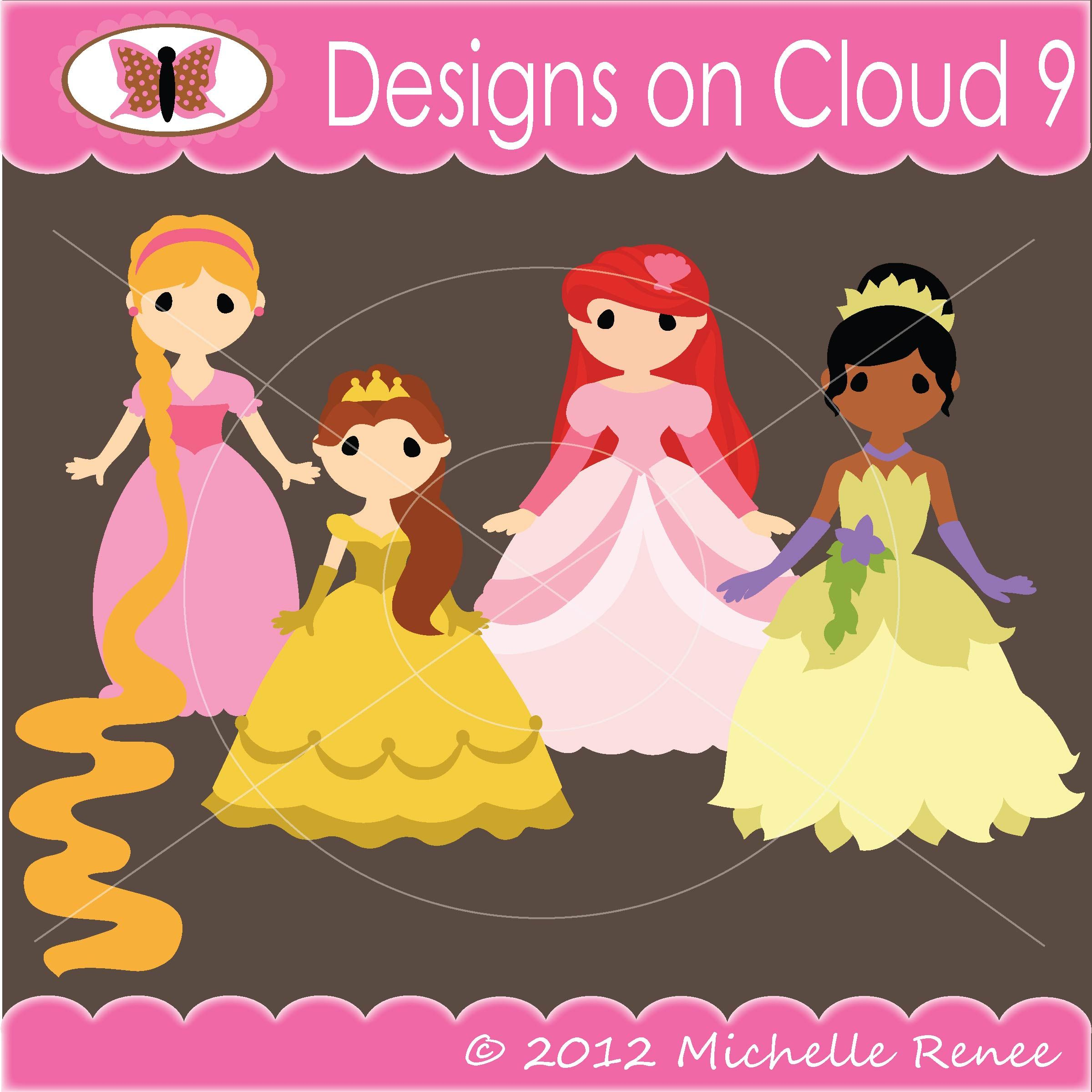 Pretty princesses set scraping pages and cards pinterest