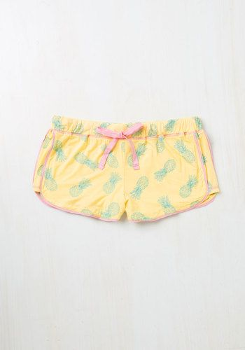 Sprout of Bed, Sleepyhead! Sleep Shorts in Pineapples, @ModCloth
