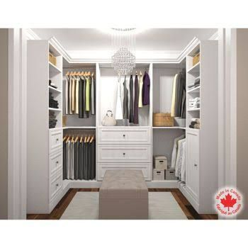 How to design a walk in u shape storage closet google for How to design closet storage