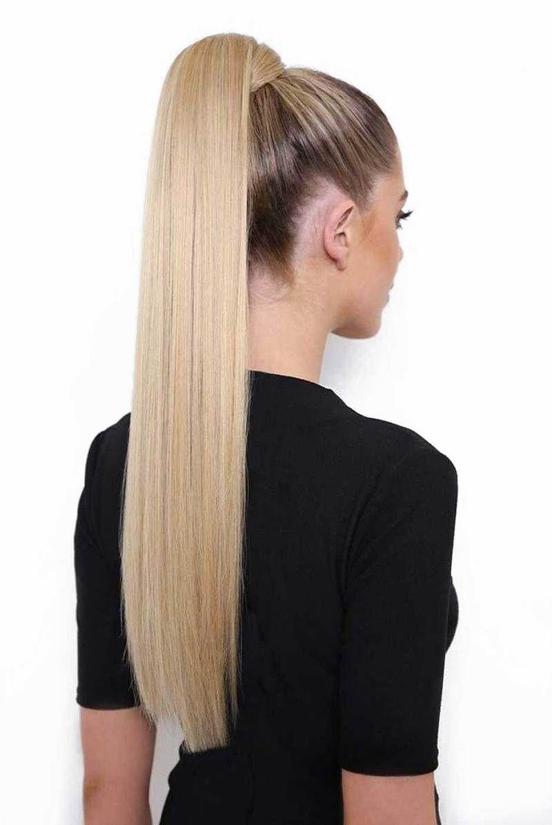 Wrap Around Straight Ponytail in 2020   Clip in ponytail ...