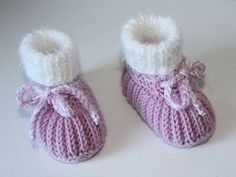 Photo of Strickanleitung Babyschuhe, Booties, Sohlenlänge ca. 11 cm, Patentmuster