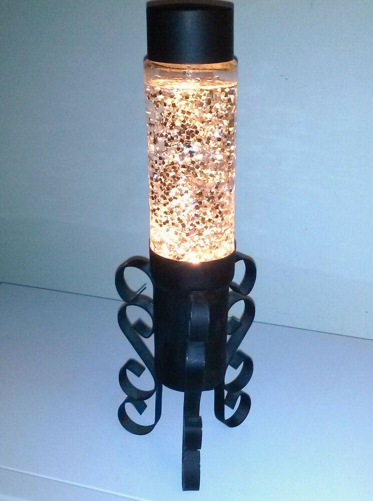 Vintage 1977 Mediterranean Glitter Lamp Retro Light Motion Lava Vtg Lite 70s Haus