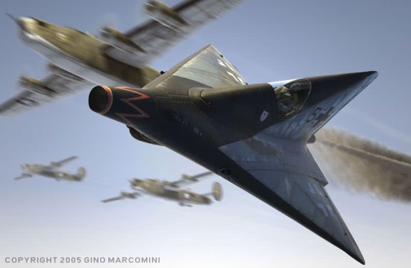 Lippisch P13 ramjet propulsion Fighter project max speed