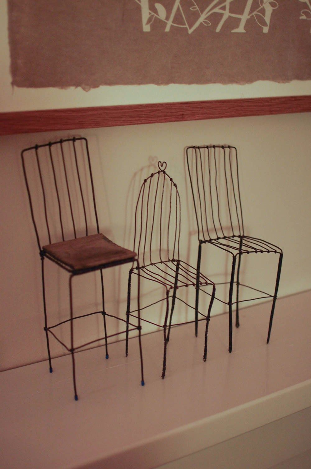 Home Sweet Home Design Crafts Wire Chair Sweet Home