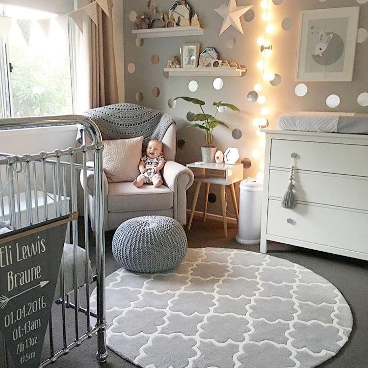 chambre #bébé #gris #blanc #nursery #babyroom #white #grey ...