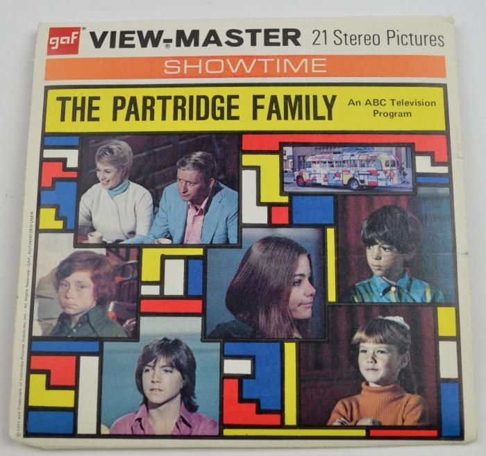 Viewmaster Viewmaster Reels View Master Reels The Partridge Family View Master Partridge Family Family Seal
