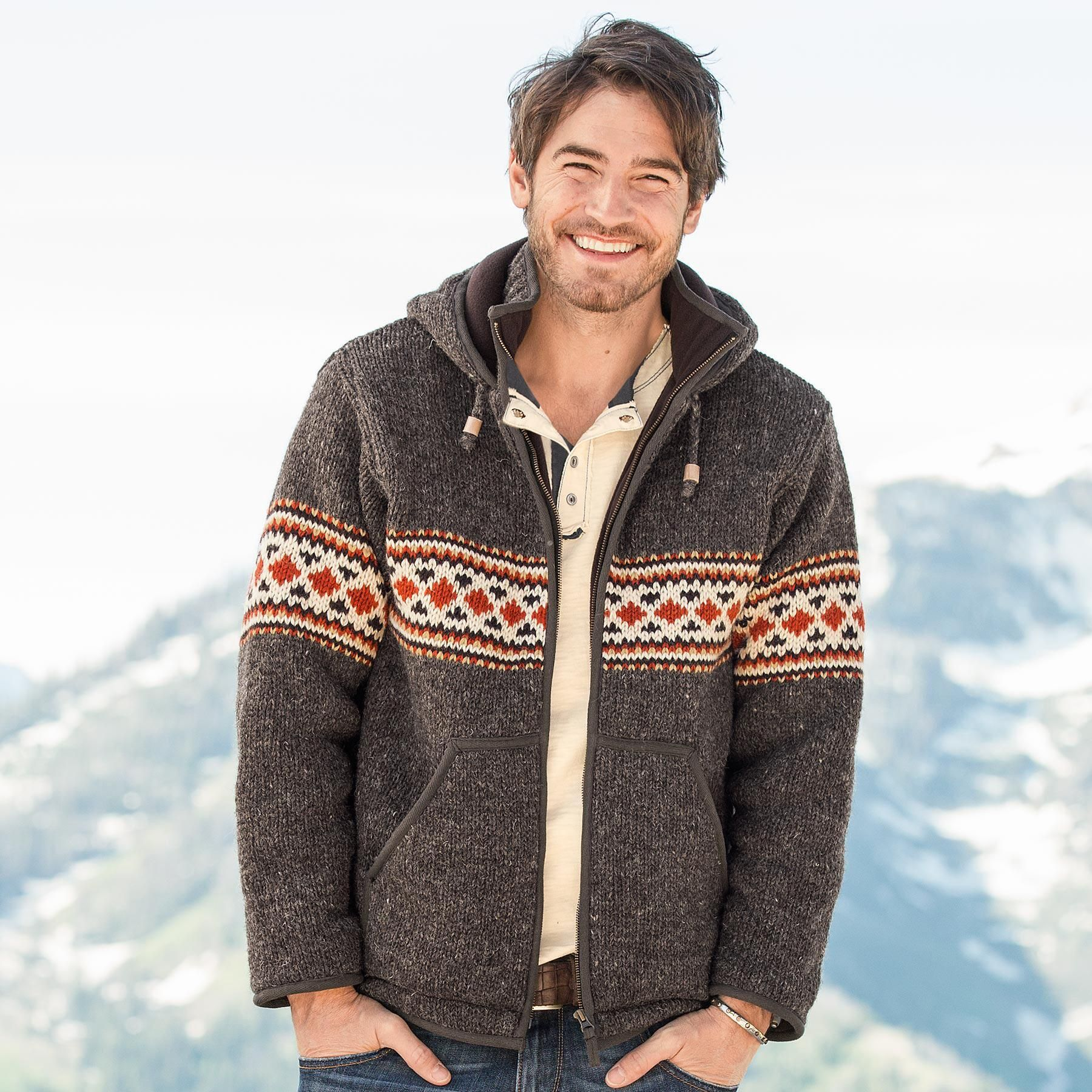 BERGEN HOODED SWEATER -- Warm as a coat yet comfy as a cardigan ...