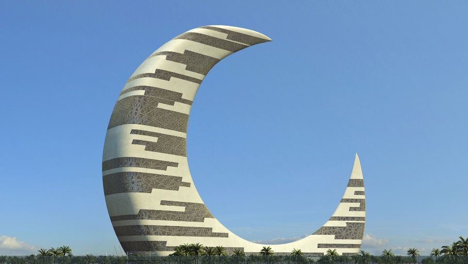 crescent moon tower - architecture linked - architect