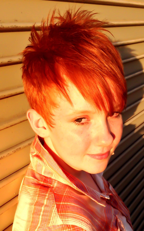 Short disconnected red hair cut be fabolous pinterest red hair