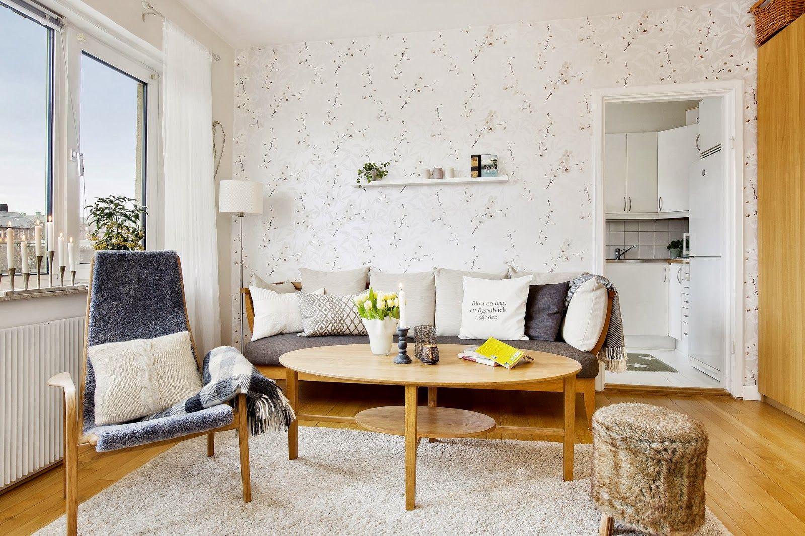 Como decorar un piso con muebles en color madera living dining room pinterest room - Decorar un piso ...