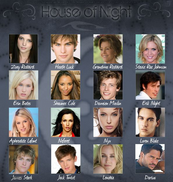 House of Night cast. Maybe? Although I can never picture Neferet ...