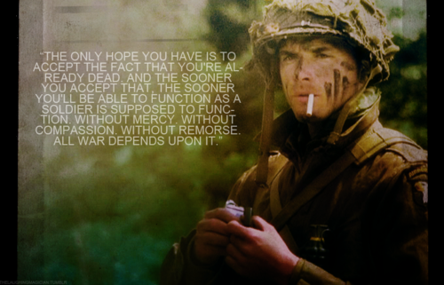 Band Of Brothers Why We Fight Quotes: Band Of Brothers I Love Lt. Ronald Spiers. Matthew Settle