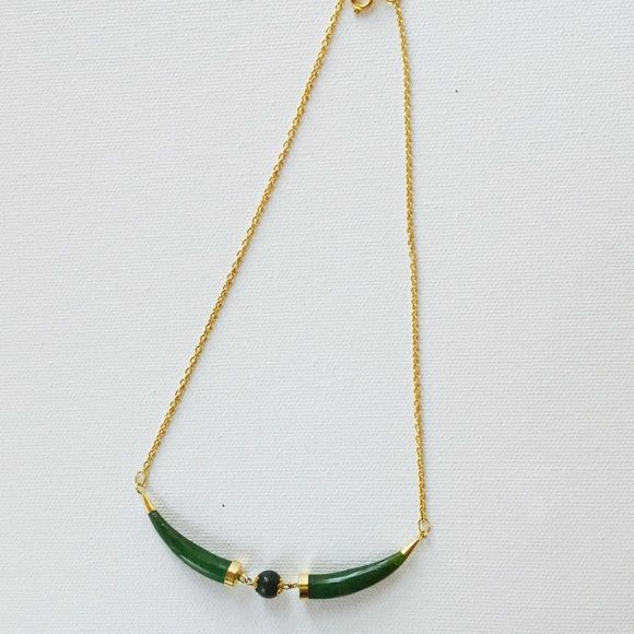 Jewelry - Genuine Jade Horn Necklace