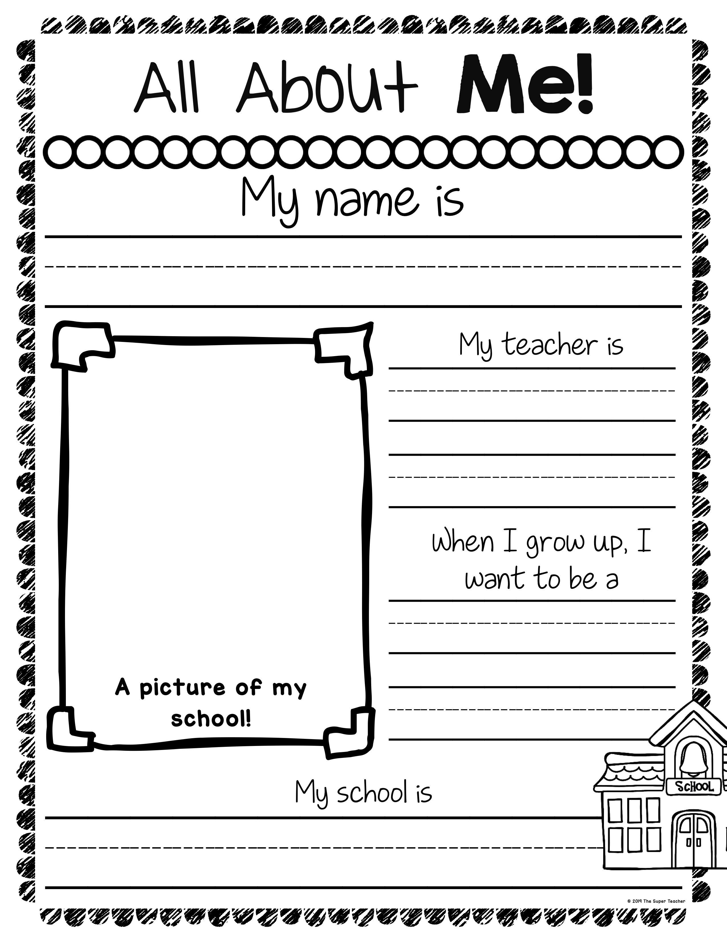 How To Easily Get Students Interested In Writing In Writing Writing Standards All About Me Book