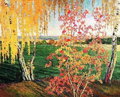 Rowan Tree- - Russian Post-Impressionist Painter Igor Grabar