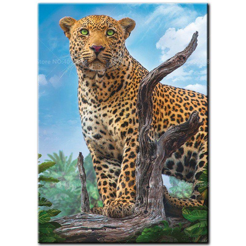 DIY Full5D Diamond Embroider The leopard Diamond Painting Mosaic Home Decoration