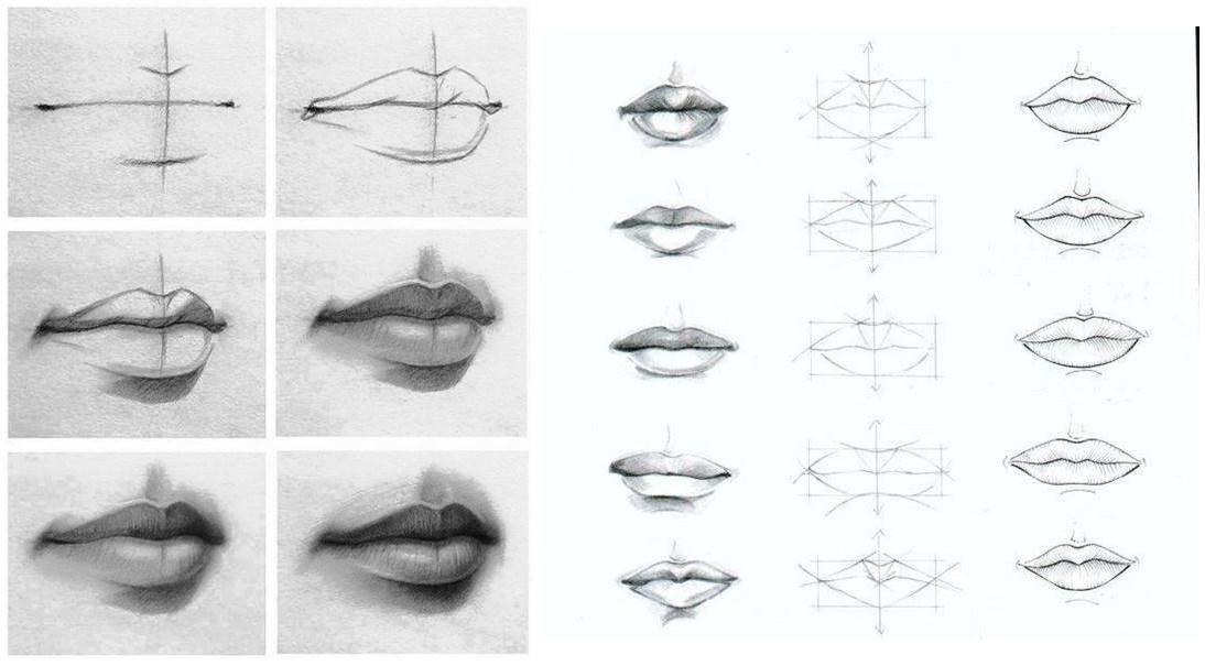 Como Aprender A Dibujar Labios Paso A Paso Dibujos Art Y Face