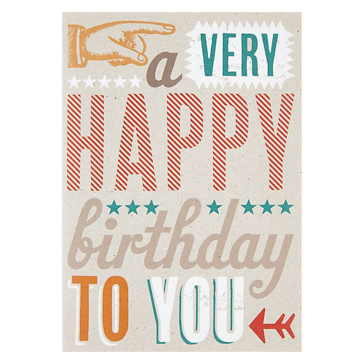 Buy Velvet Olive A Very Happy Birthday Card Online At Johnlewis