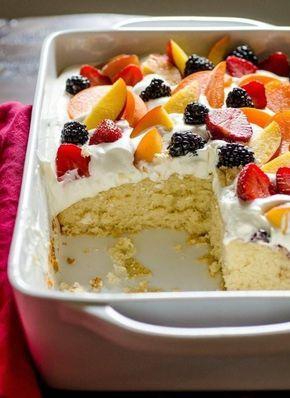 Rezept Leichte Sommer Kuchen Mit Obst Cream Essen Kuchen
