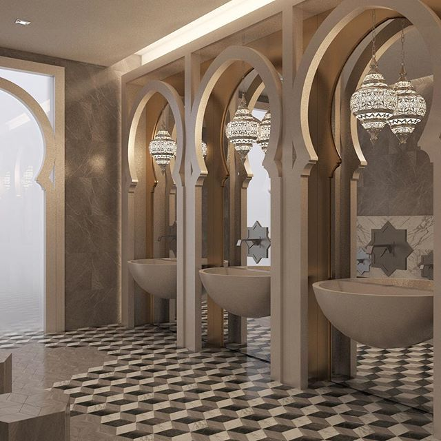 Modern French Bathroom: Islamic Architecture