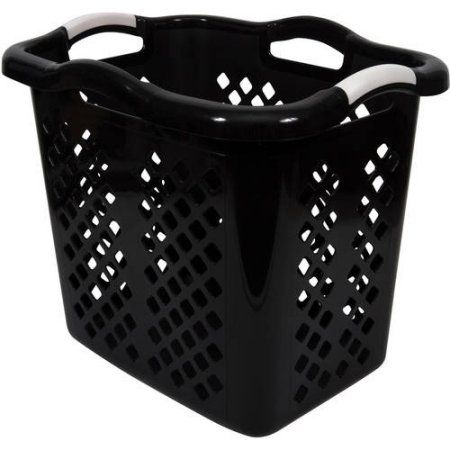 Home Logic Lamper 2 Bushel Laundry Basket Black Silver Laundry