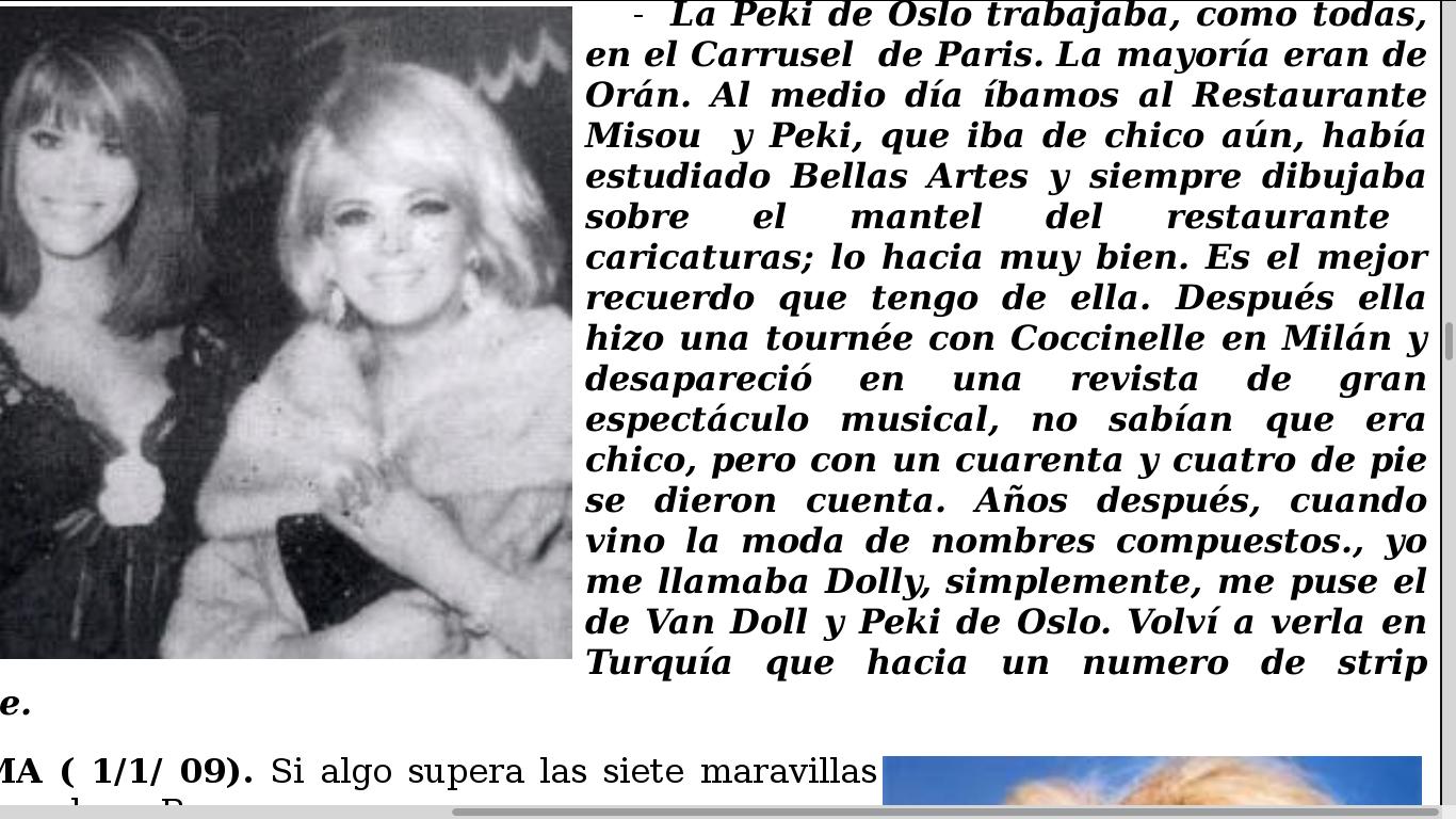 Dolly Van Doll a connu Peki avant de devenir Peki d' oslo ...