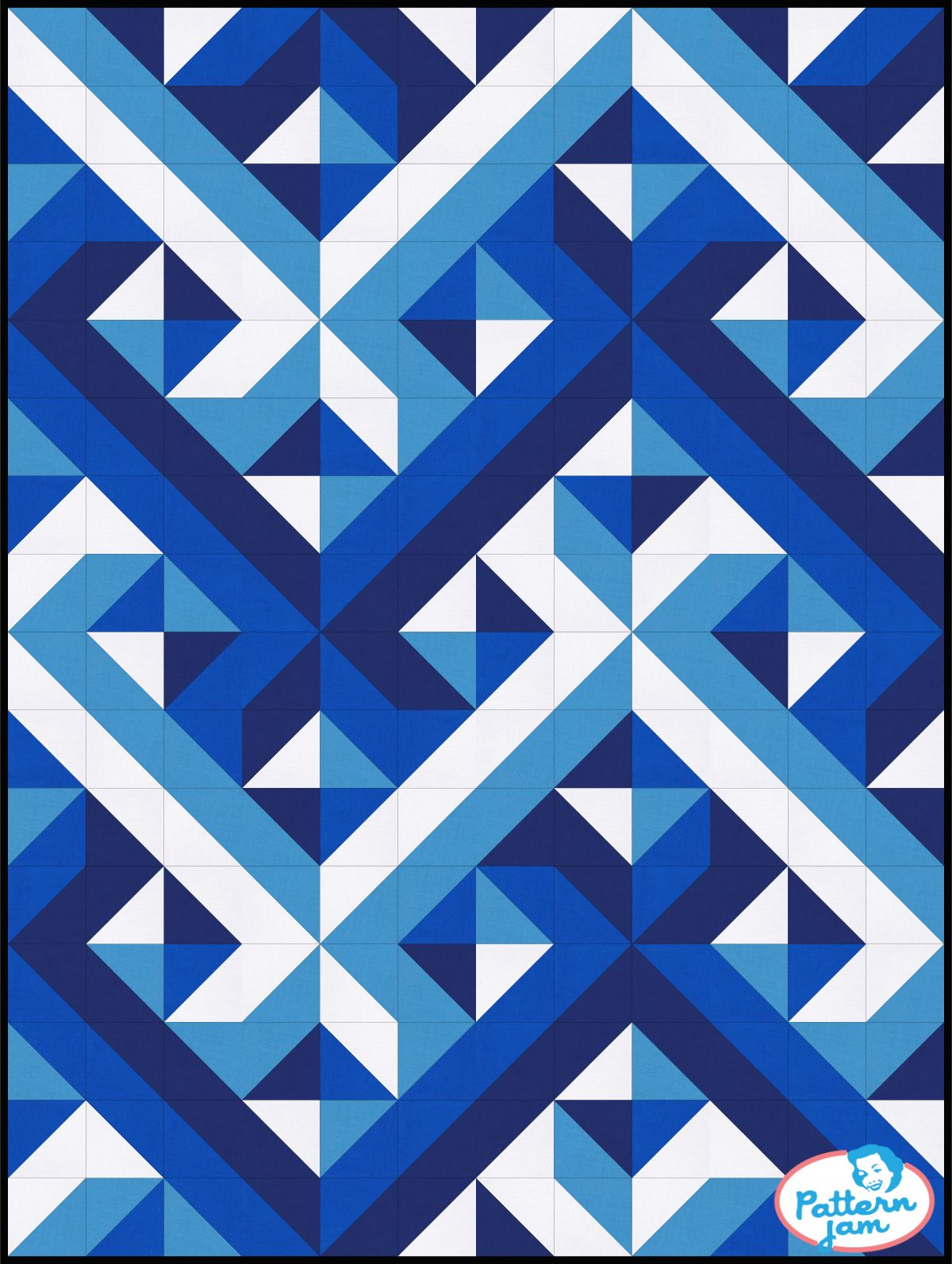 HST Interwoven Blues | Projects to Try | Geometric quilt