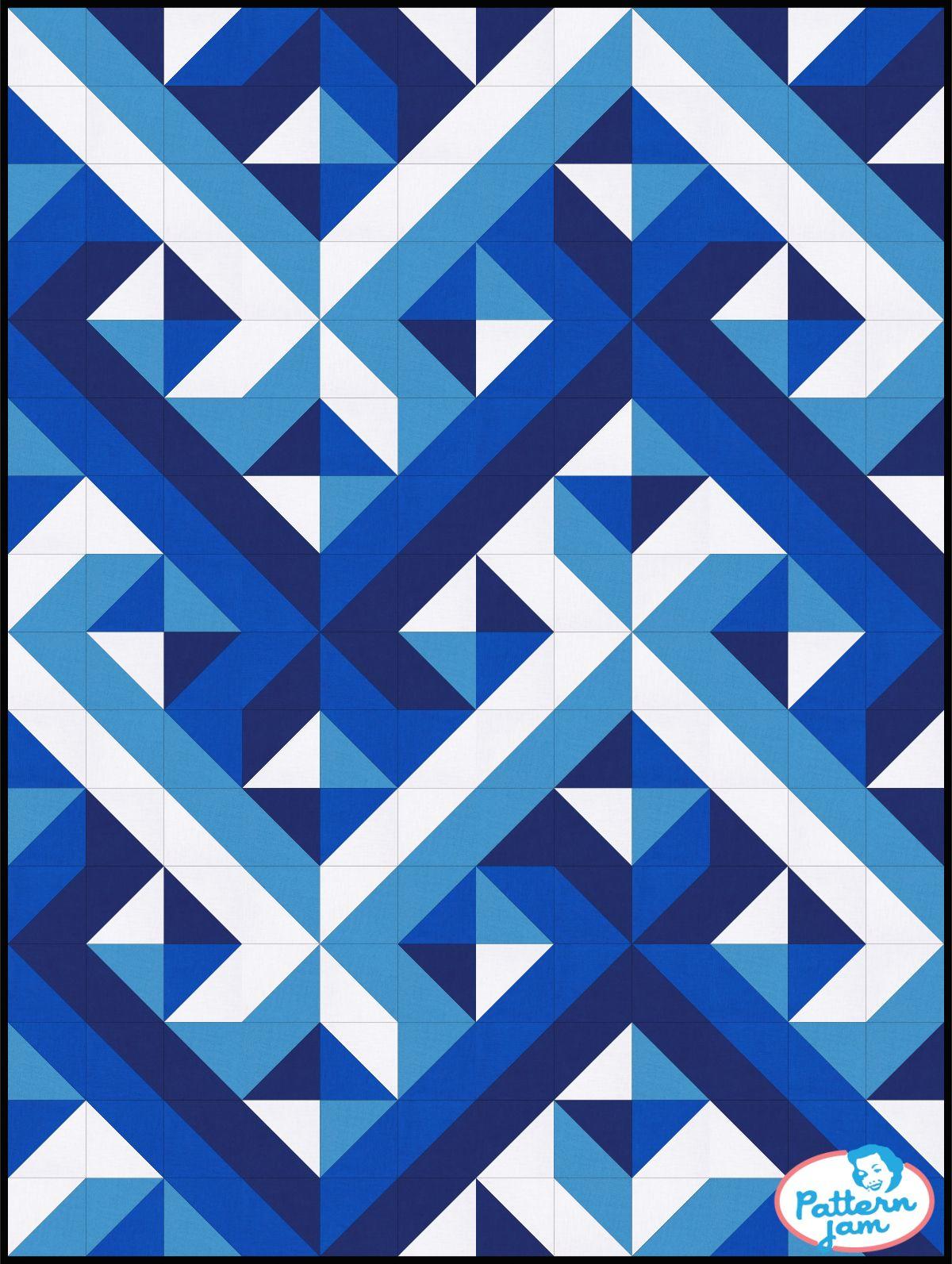 HST Interwoven Blues | quilting #2 | Pinterest | Edredones, Patrones ...