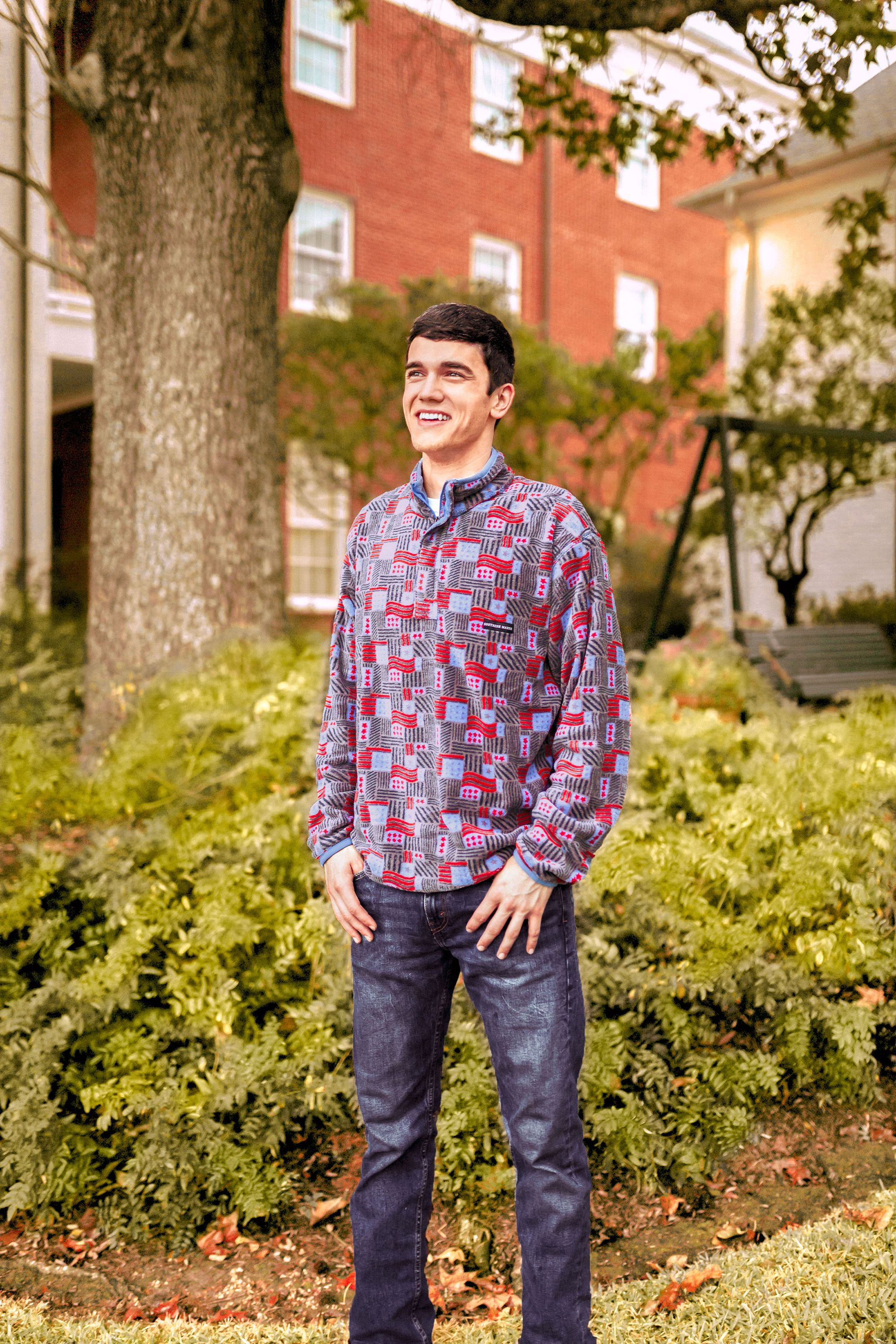 Youth Star-Spangled Fleece Pullover