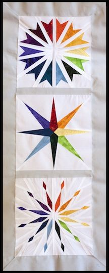 Paper pieced star pattern | Quilts | Pinterest | Rainbow star ... : paper pieced star quilt patterns - Adamdwight.com
