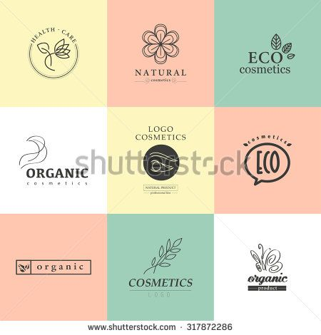 Vector Collection Of Cosmetics Logo Identity Templates Natural