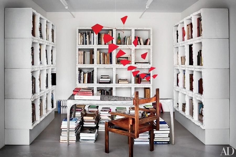 Sculptures and Mobiles Bookshelf design